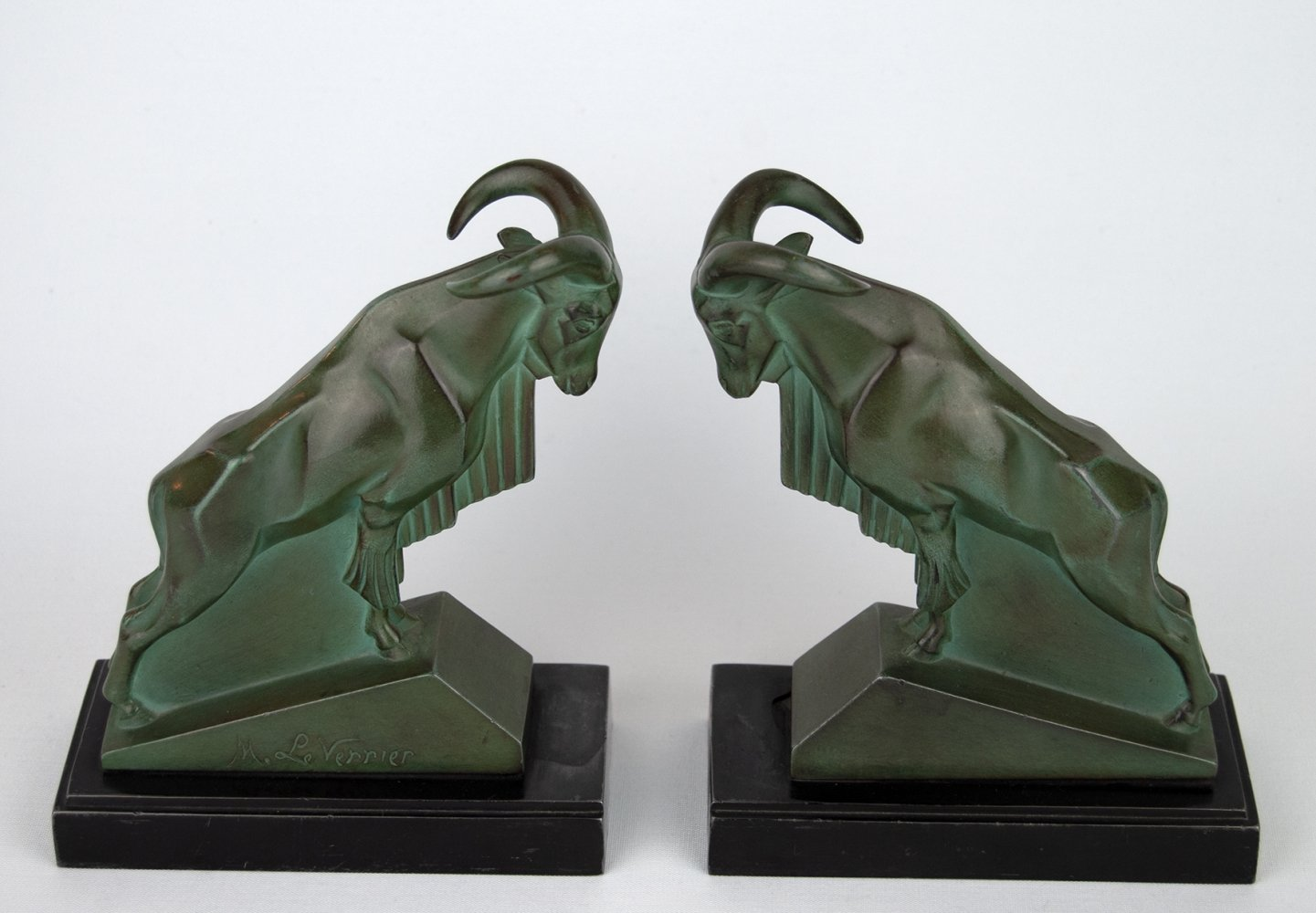 1930s Art Deco Book Ends by Max Le Verrier