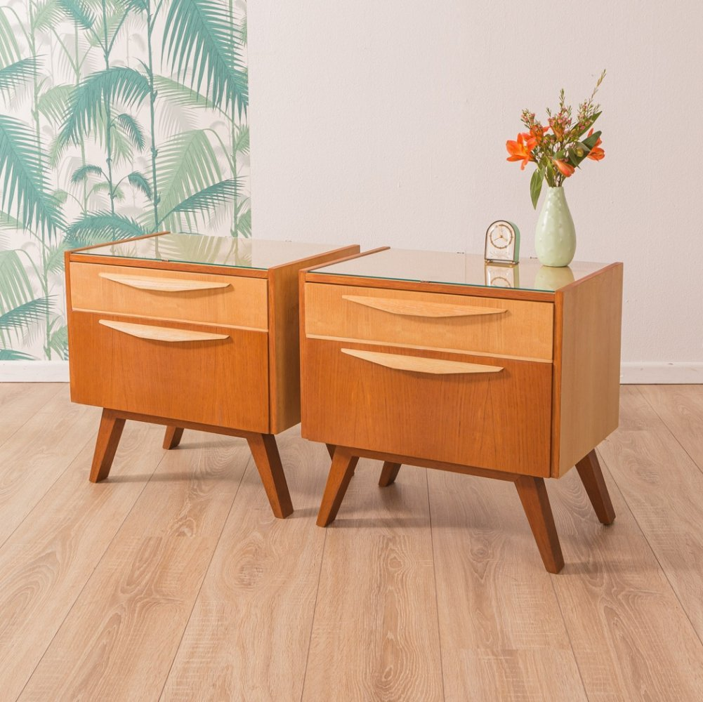 Set of bedside tables, Germany 1950s
