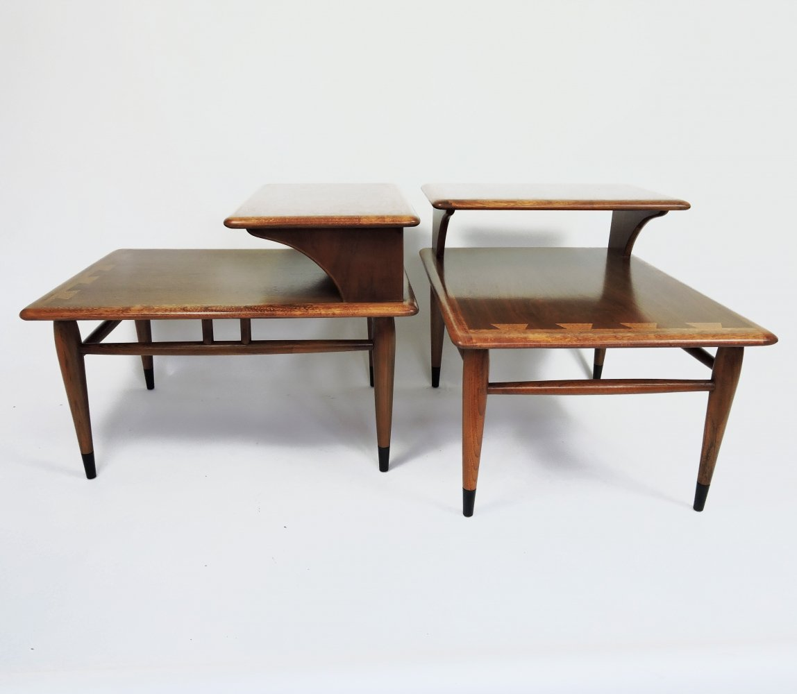Mid-Century 2-Tier End Tables by Andre Bus for Lane Acclaim, 1950s