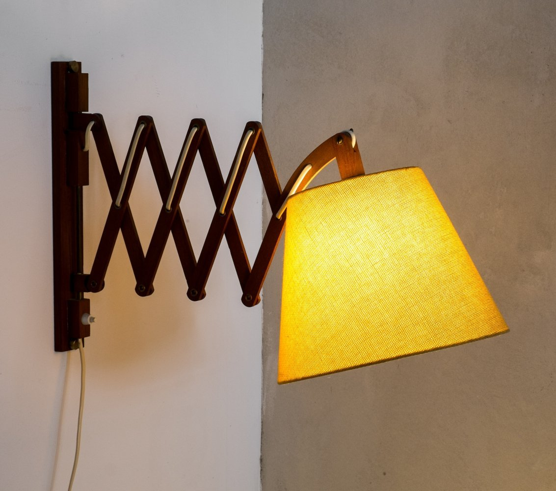 Scissor wall lamp by Aro Leuchten Germany, 1960s