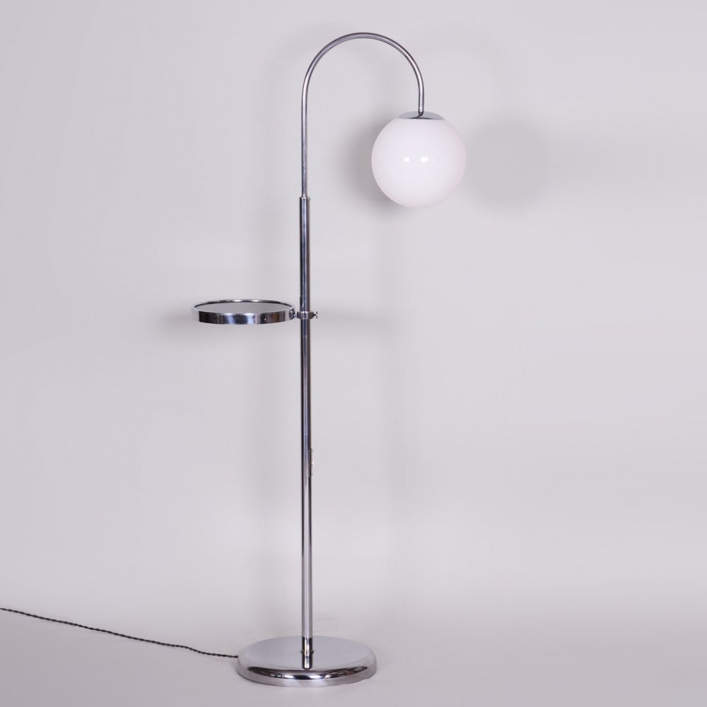20th Century Czech Bauhaus Chrome Floor Lamp, Period 1930-1939