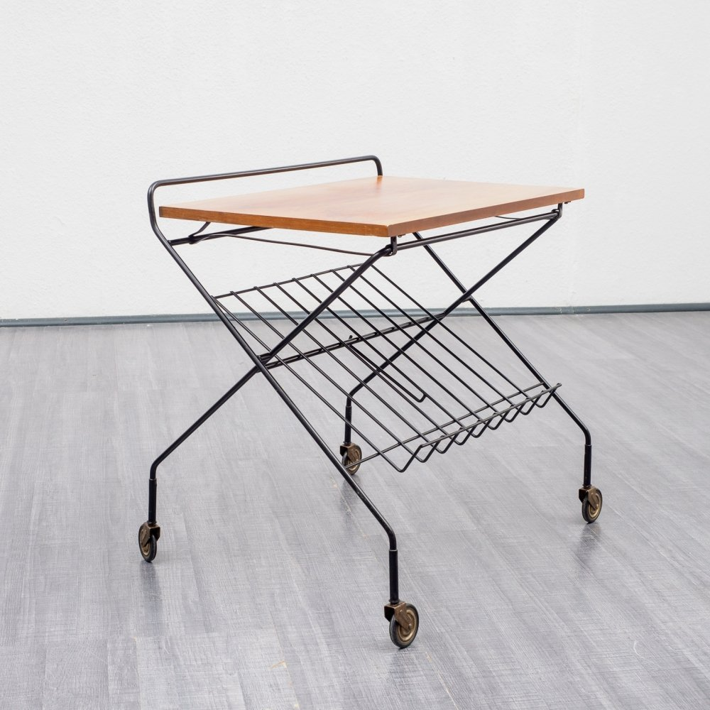 Vintage 1960s trolley / coffee table with shelf