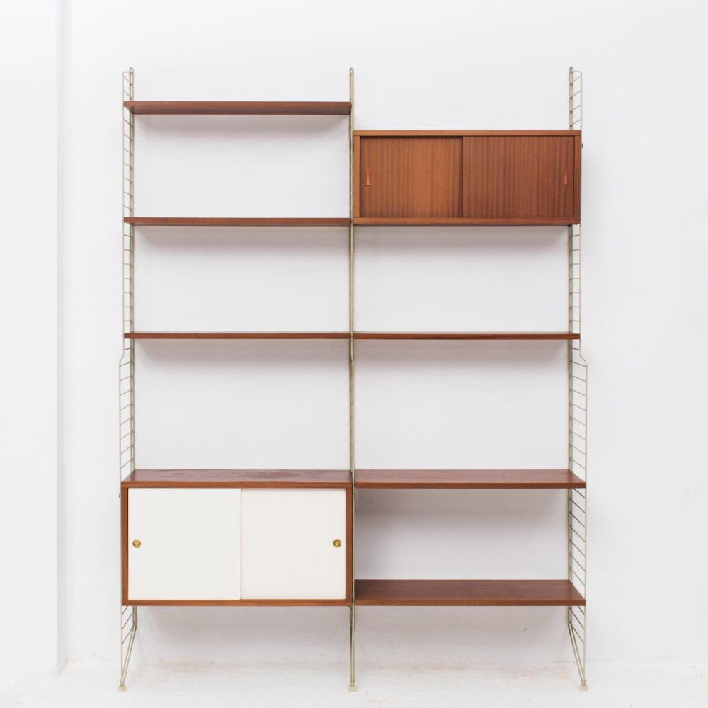 Wall unit by Nisse Strinning for String, Sweden 1960s