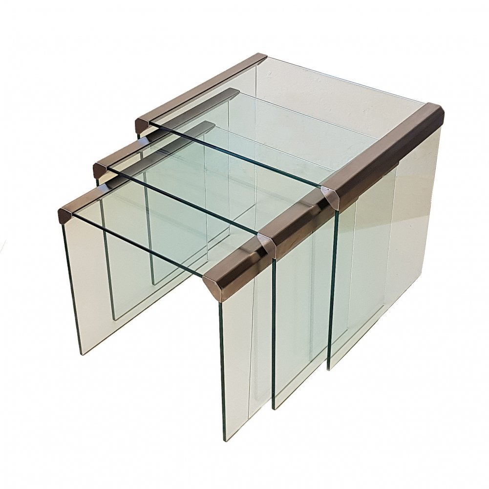 Set of 3 Nesting Tables by Pierangelo Gallotti for Gallotti & Radice