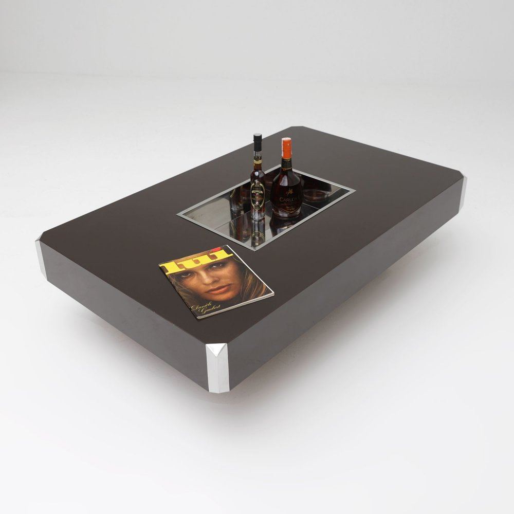 Coffee table by Willy Rizzo for Mario Sabot, 1970s