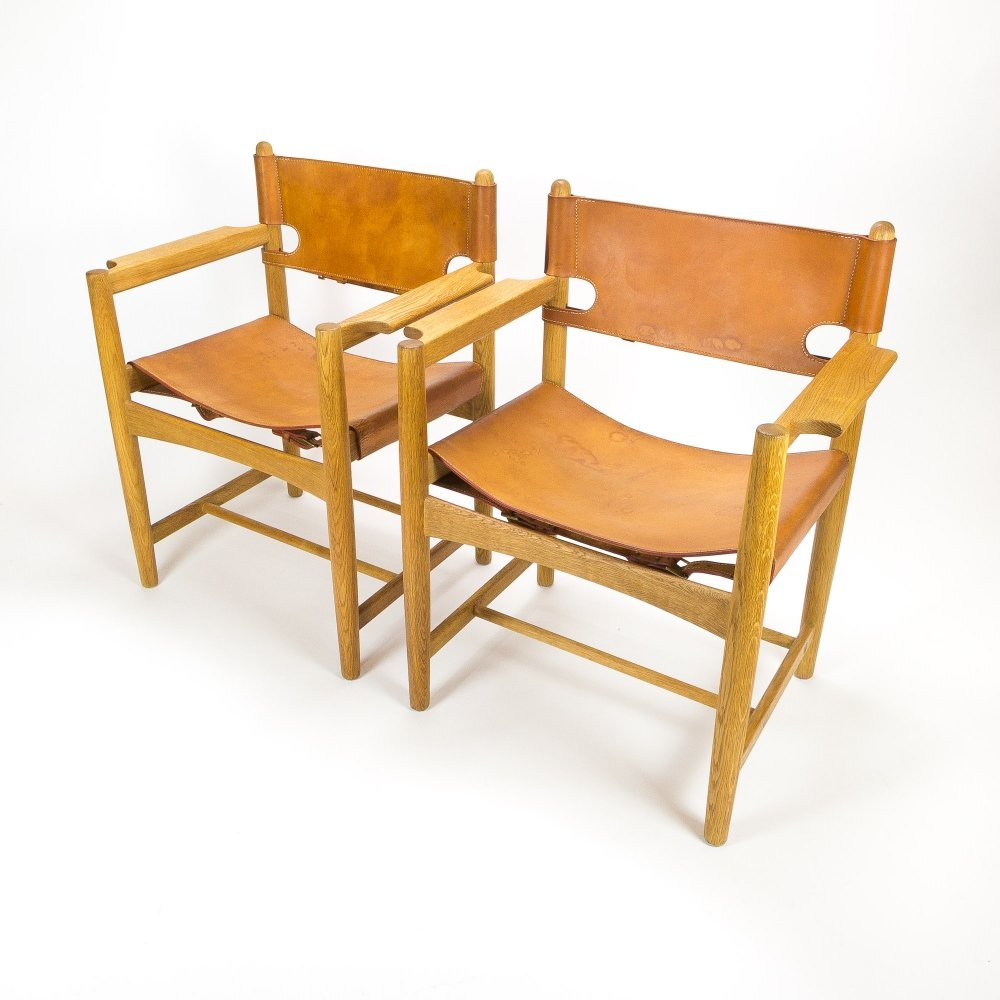 Pair of Børge Mogensen 3238 Hunter Dining Chairs