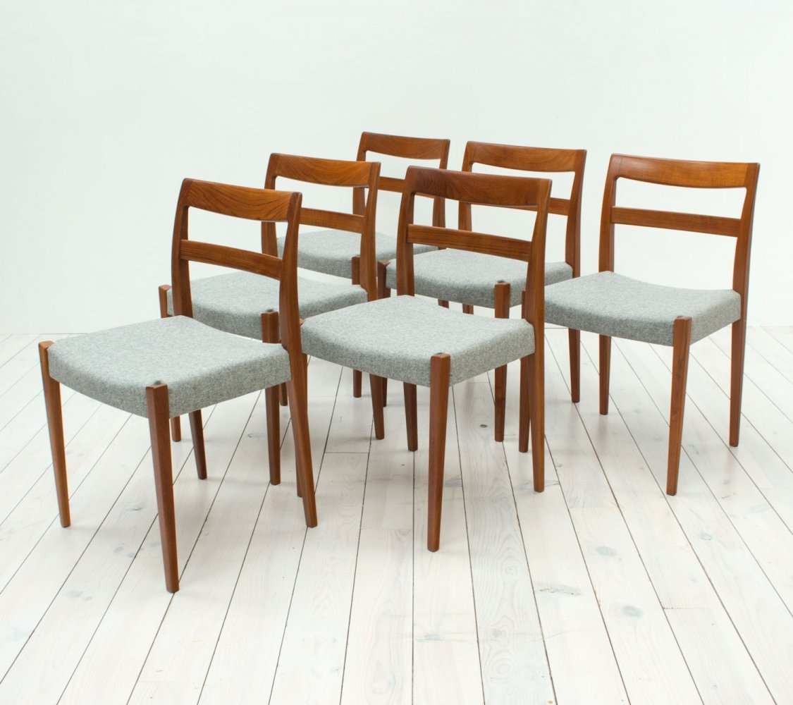 Set of 6 Swedish Teak Dining Chairs by Nils Jonsson for Troeds, 1960s