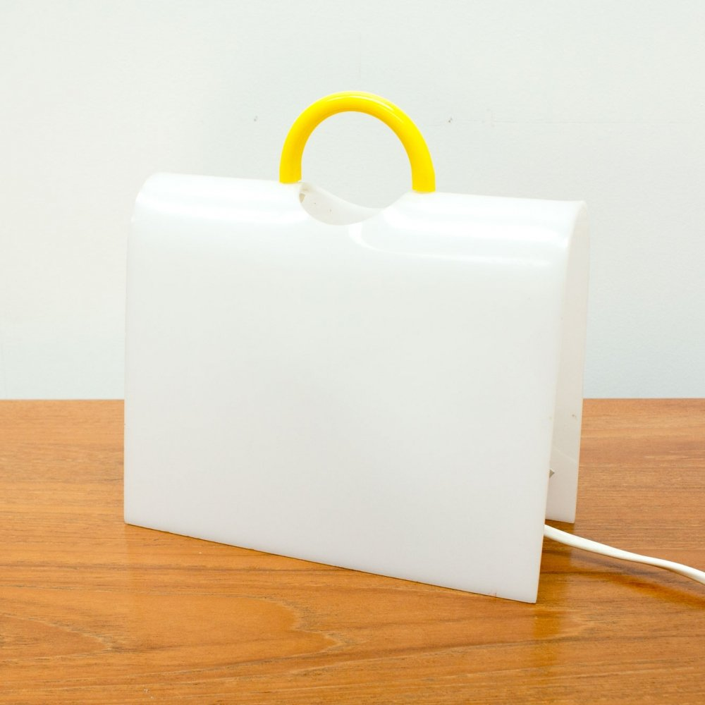 Perspex Briefcase Table Lamp by Shiu Kay Kan, 1980s