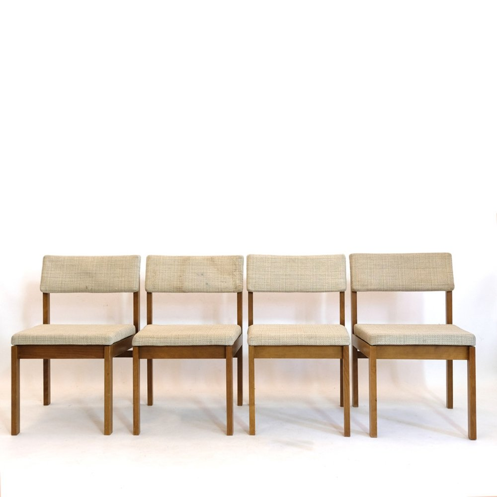 Set of 4 dining chairs by Willy Guhl, 1959