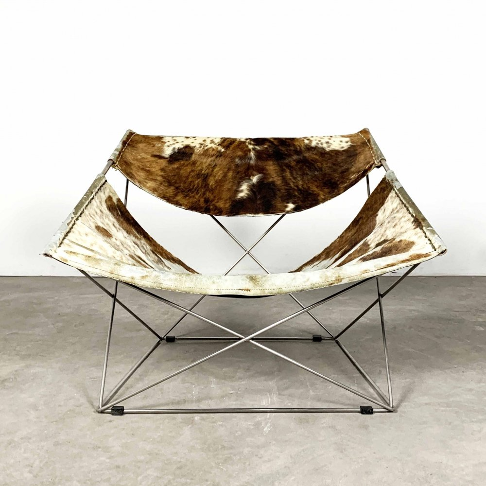 Cow Hide Butterfly F675 Lounge Chair by Pierre Paulin for Artifort, 1960s