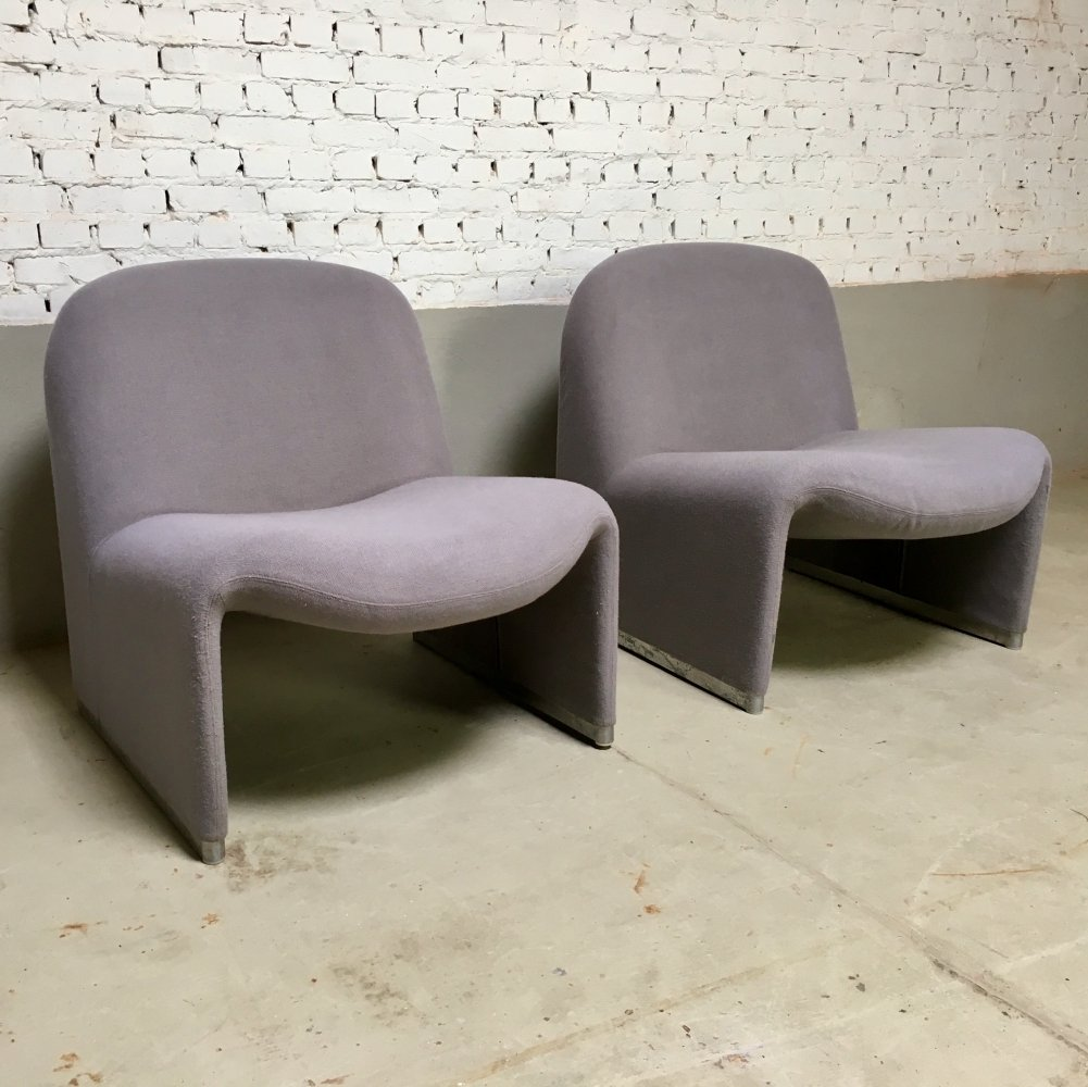 Alky Lounge Chairs by Giancarlo Piretti for Castelli, 1970s