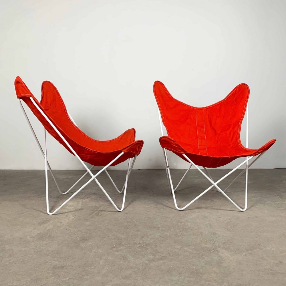 Pair of Butterfly lounge chairs by Jorge Ferrari Hardoy for Knoll, 1950s