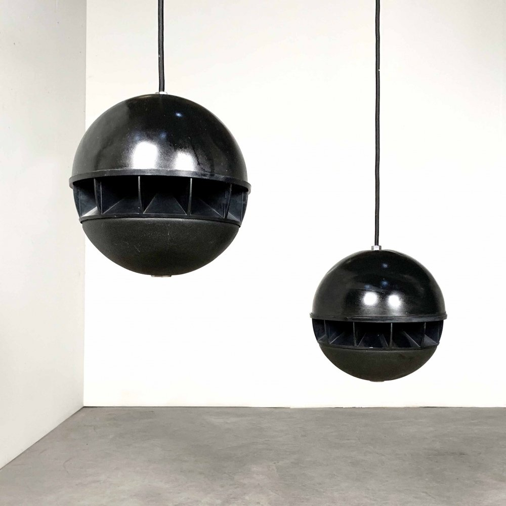 Japanese Sphere Hanging Speakers by Toa Electronics, 1970s