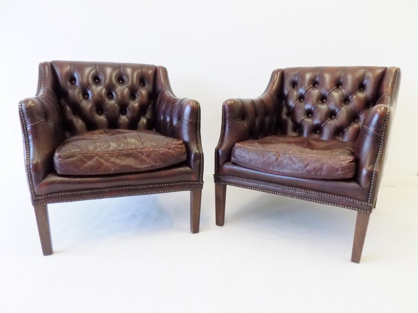 Pair of Millbrook Chesterfield Club Chairs, 1960s