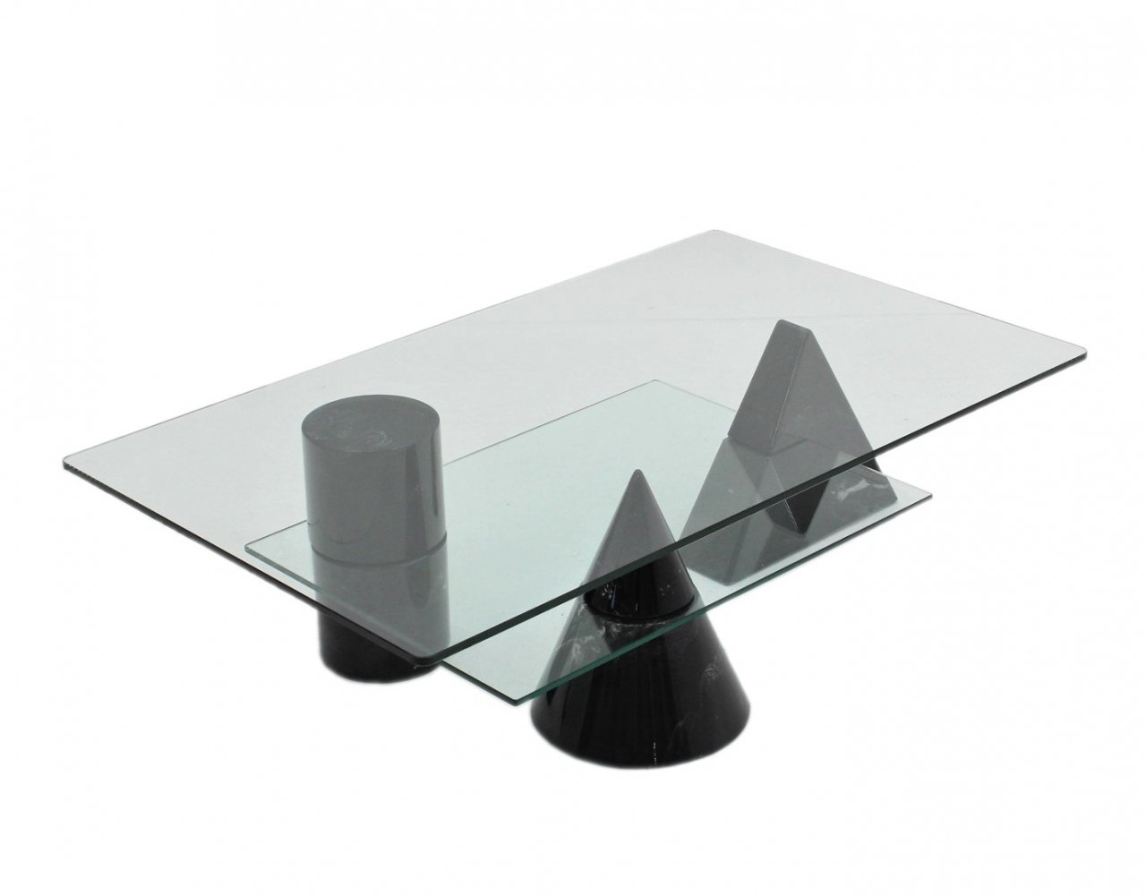 Geometric coffee table by Martinelli Luce, 1970s
