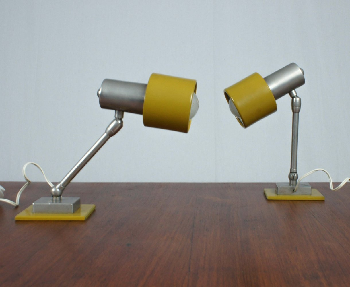Pair of Italian desk lamps, 1960s
