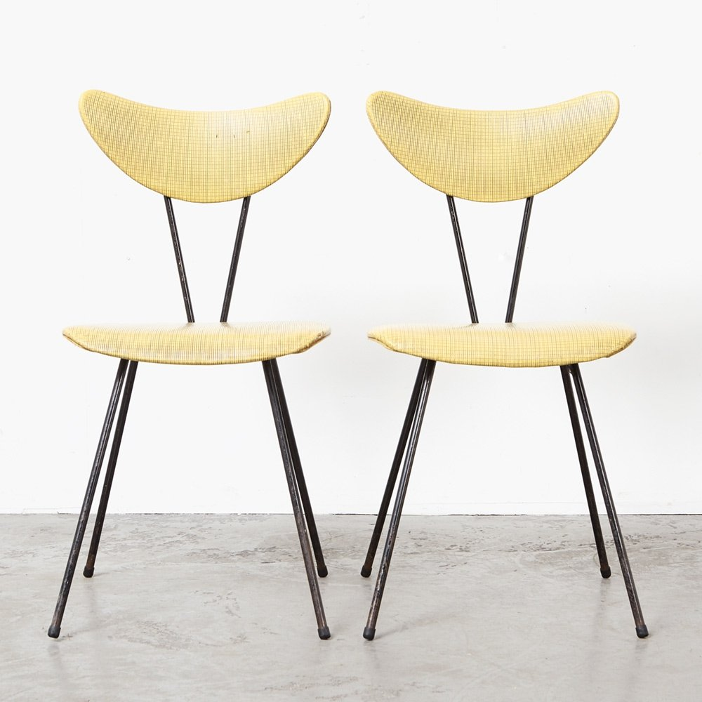 W.H. Gispen Pair of Dining Chairs 103 for Kembo, 1953