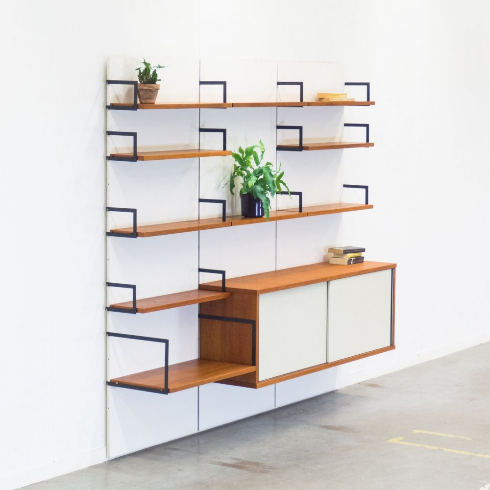 Modernist Japanese series wall unit by Cees Braakman for Pastoe