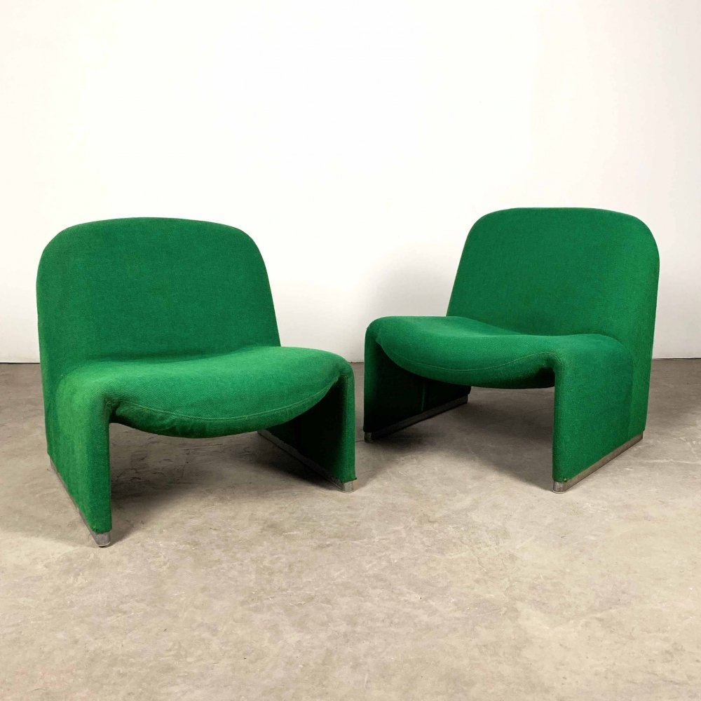 Set of 2 Alky Lounge Chairs by Giancarlo Piretti for Castelli, 1970s