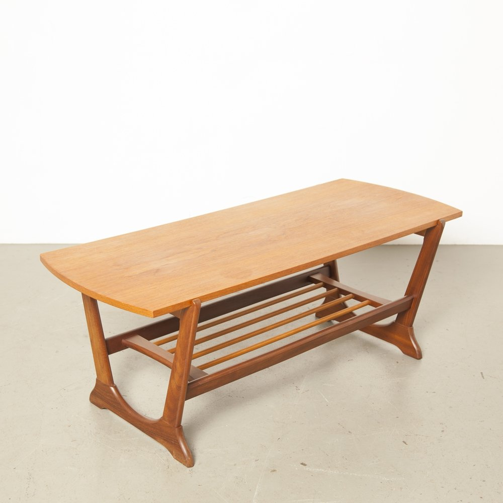 Teak Coffee table with reversible top, 1950s