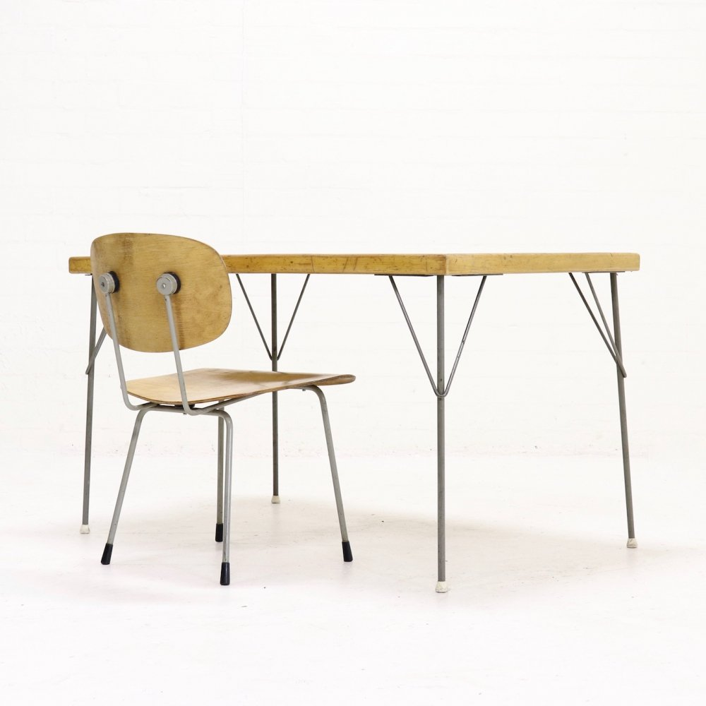 Set Gispen Table 531 & Chair 116 by Wim Rietveld & A. Cordemeyer, 1950s