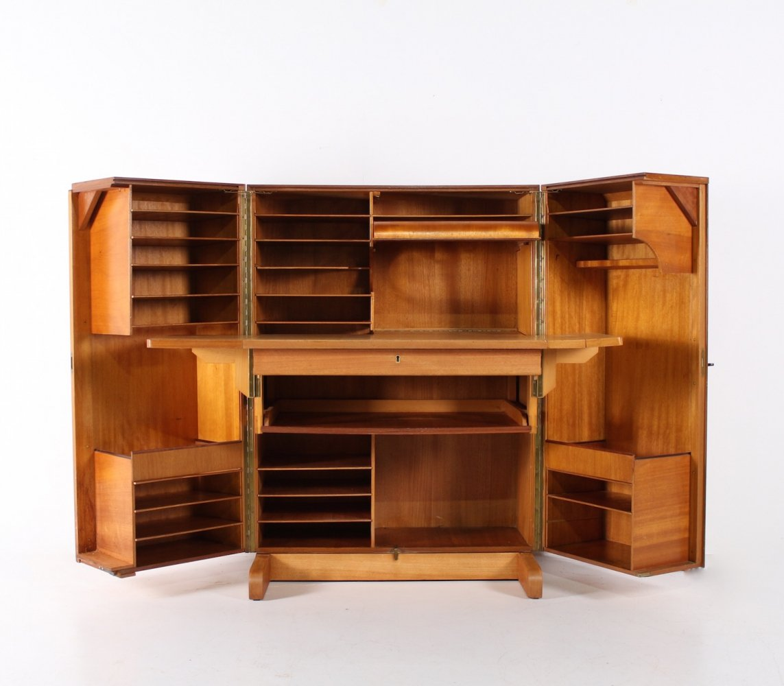 Magic Box Fold out desk Cabinet by Mummenthaler & Meier