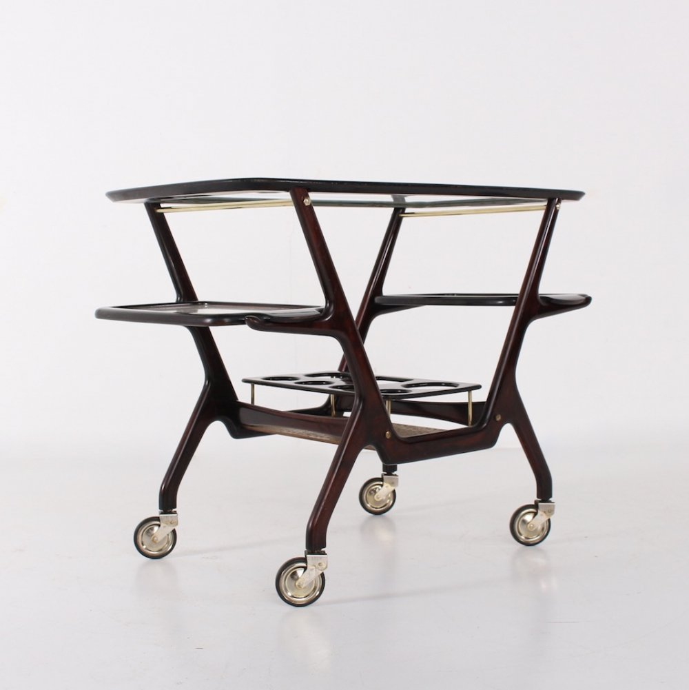 3 trays serving trolley by Cesare Lacca