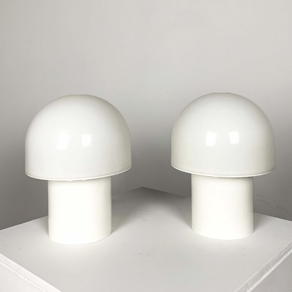 Pair of Mushroom Table Lamps, 1970s
