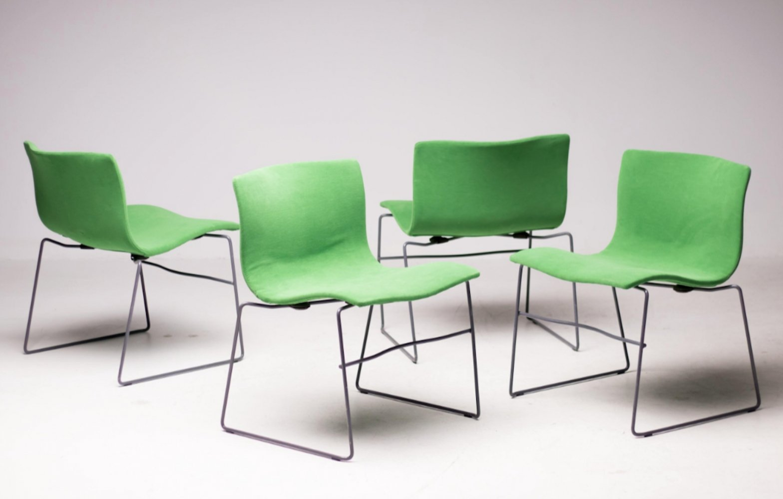 Set of 4 Handkerchief dining chairs by Lella Vignelli & Massimo Vignelli for Knoll, 1980s