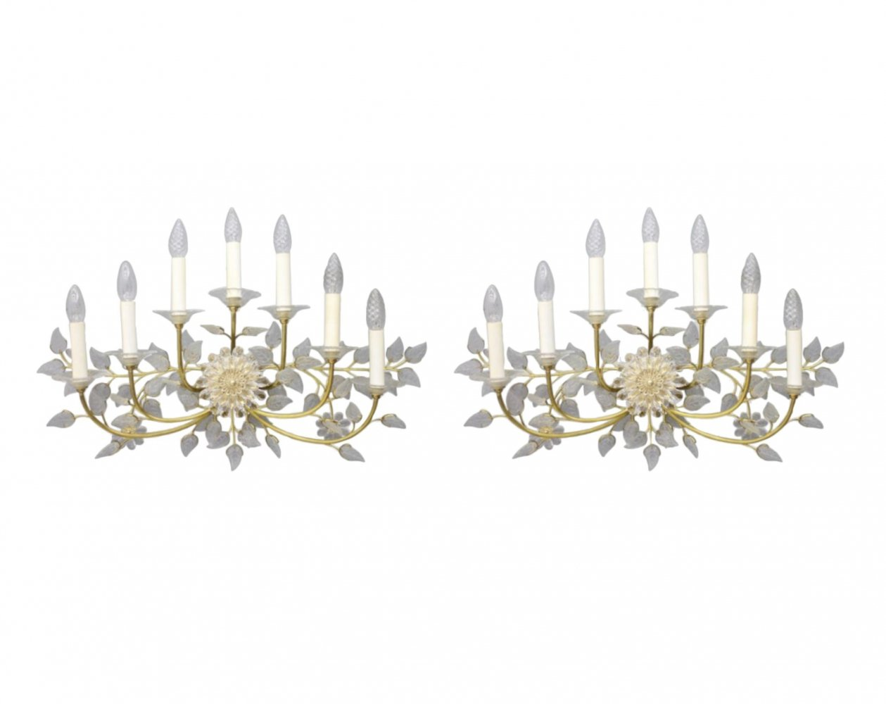 Pair of large Wall Lights by Palwa, 1960s