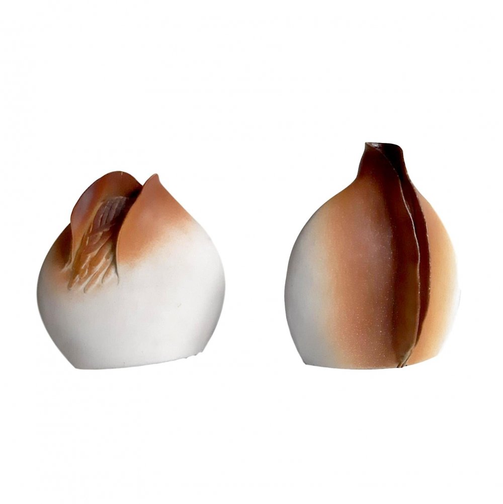 Pair of Ceramic Table Lamp Bases by Georges Deliège, 1980s