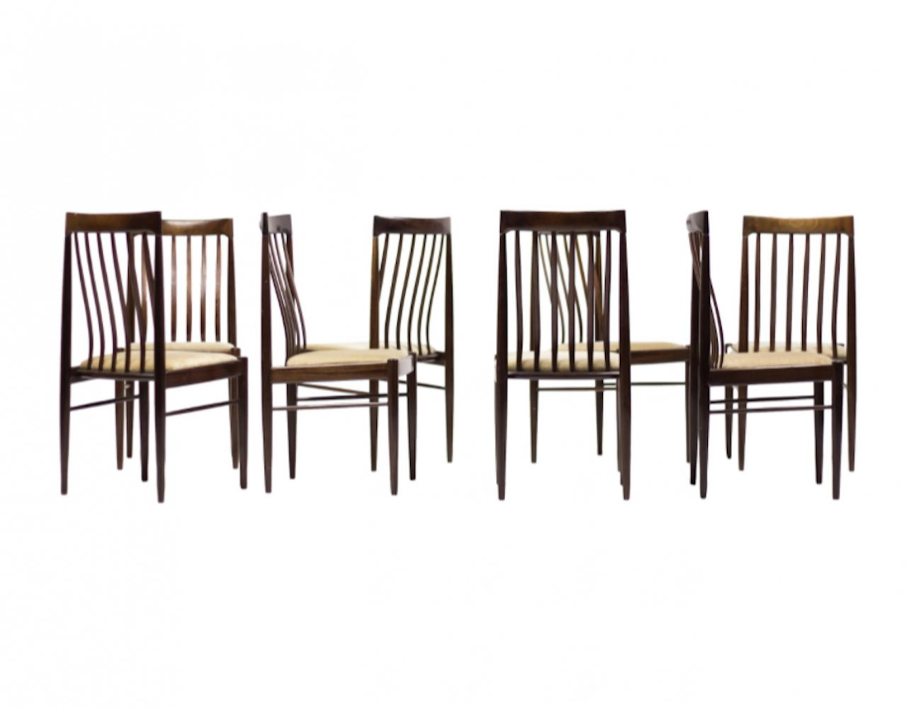 Set of 8 Danish design Mahogany chairs by H.W. Klein for Bramin