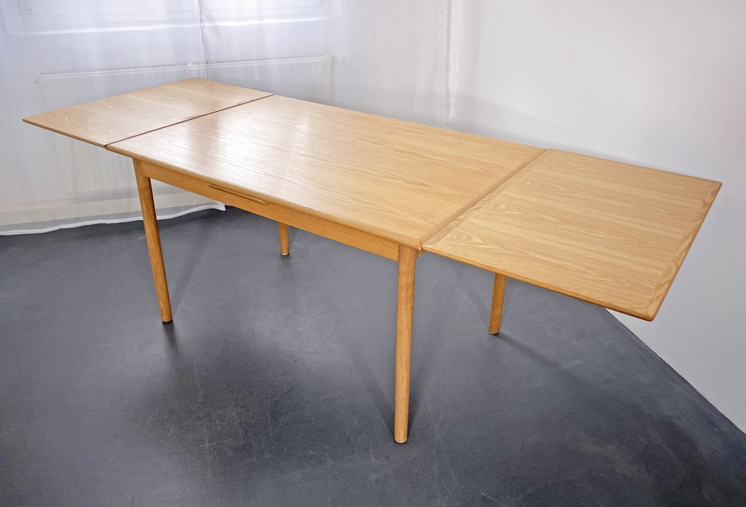 Extendable dining room table by HS Mobler, 1960s