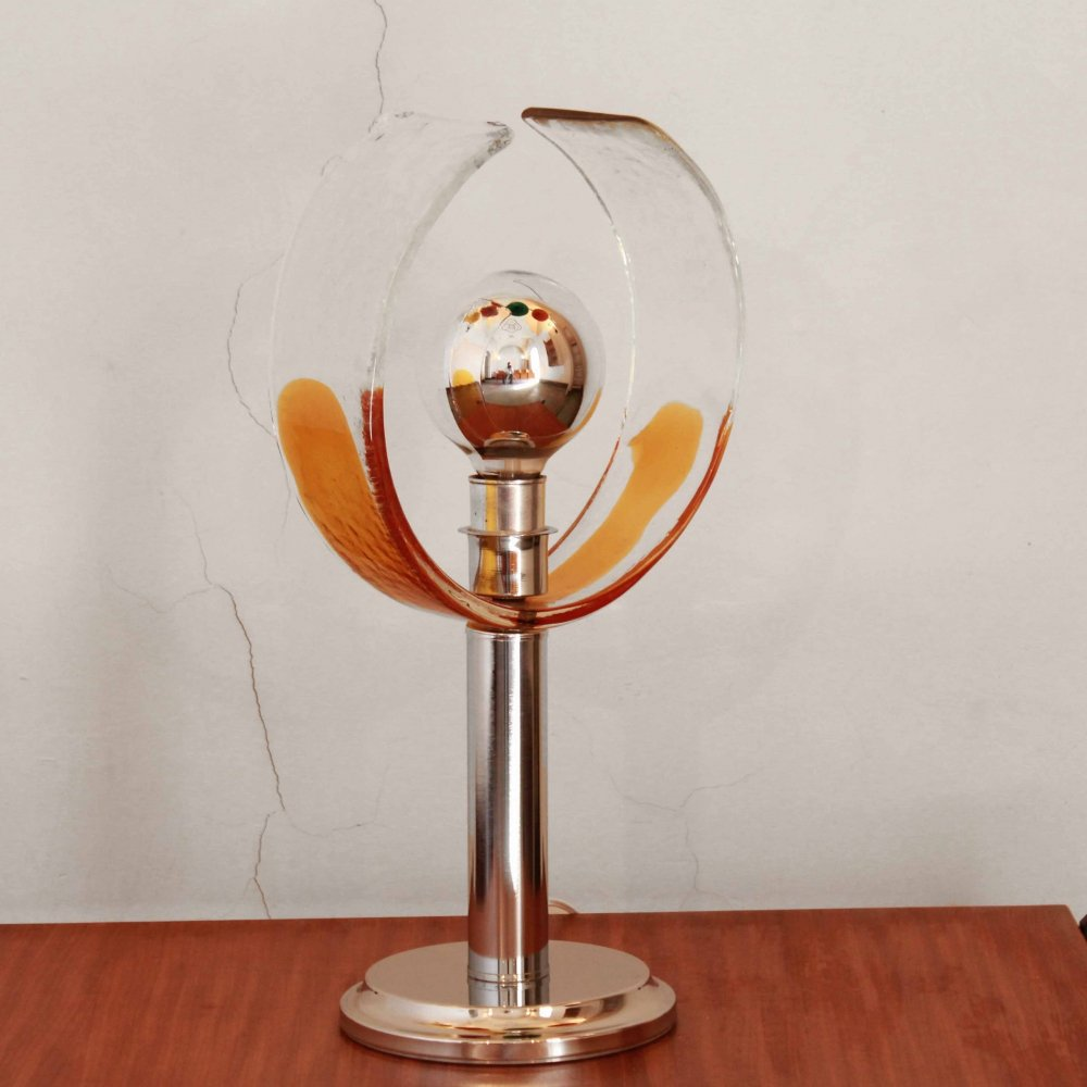 1970s Murano glass table lamp by Carlo Nason for Mazzega