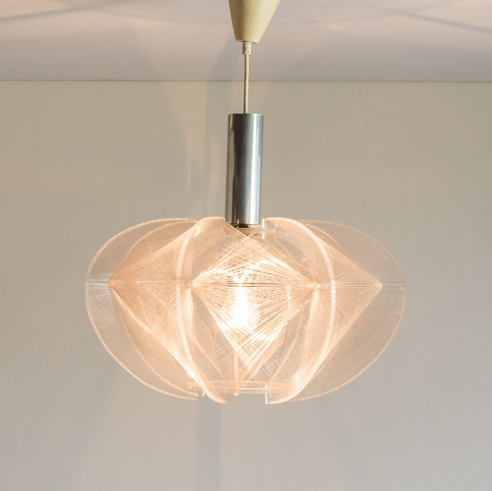 Paul Secon for Sompex wire pendant lamp, 1970