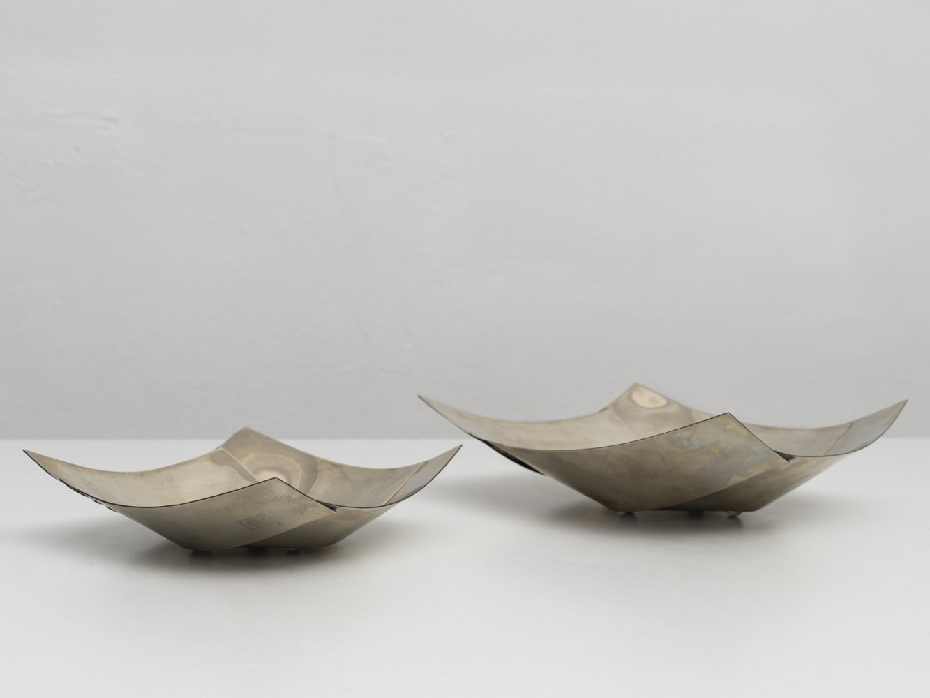 Pair of Maldive centerpieces by Bruno Munari for Danese, 1961