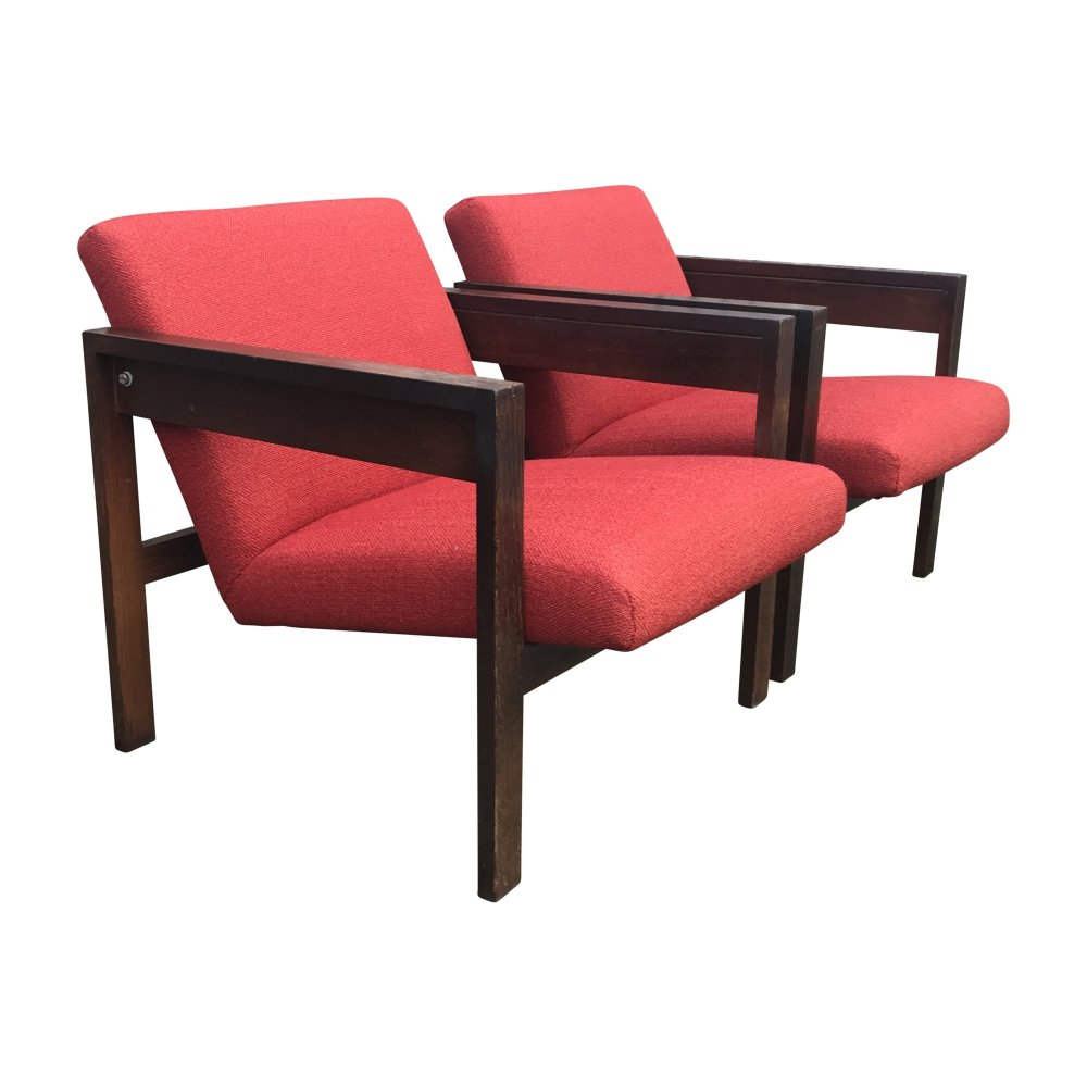 Pair of SZ25 armchairs by Hein Stolle for t