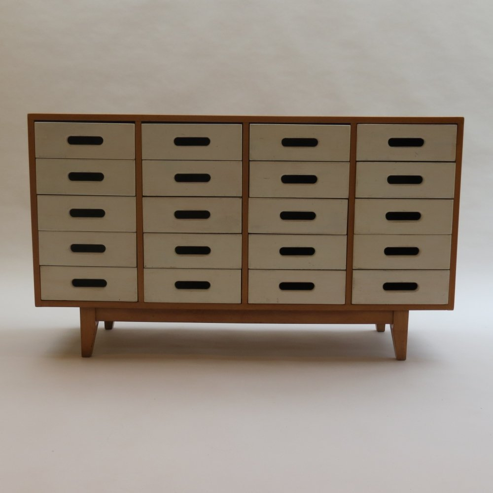 White Chest of drawers by James Leonard for Esavian ESA, 1950s