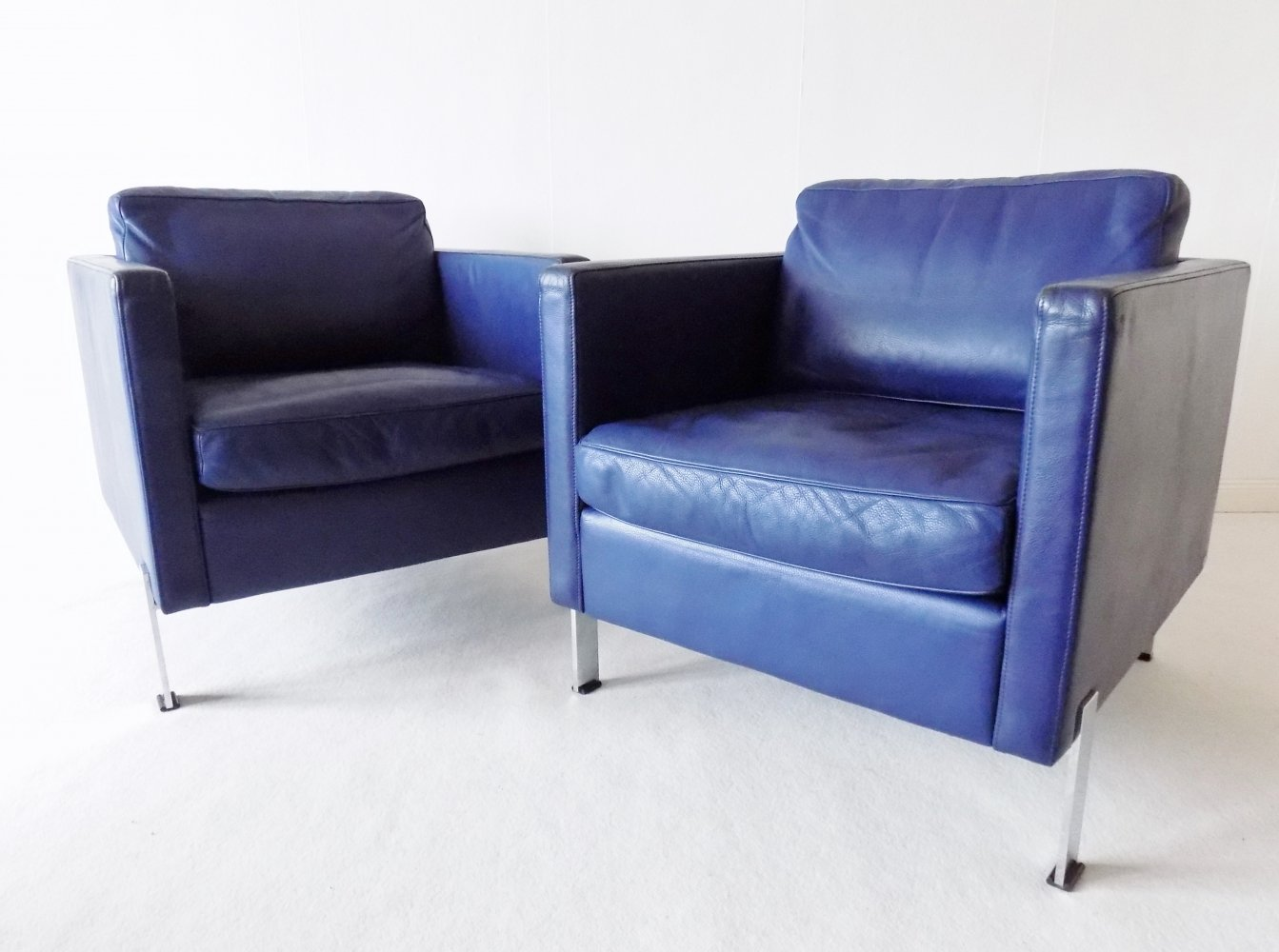 Pair of De Sede DS 118 Leather Clubchairs, 1970s