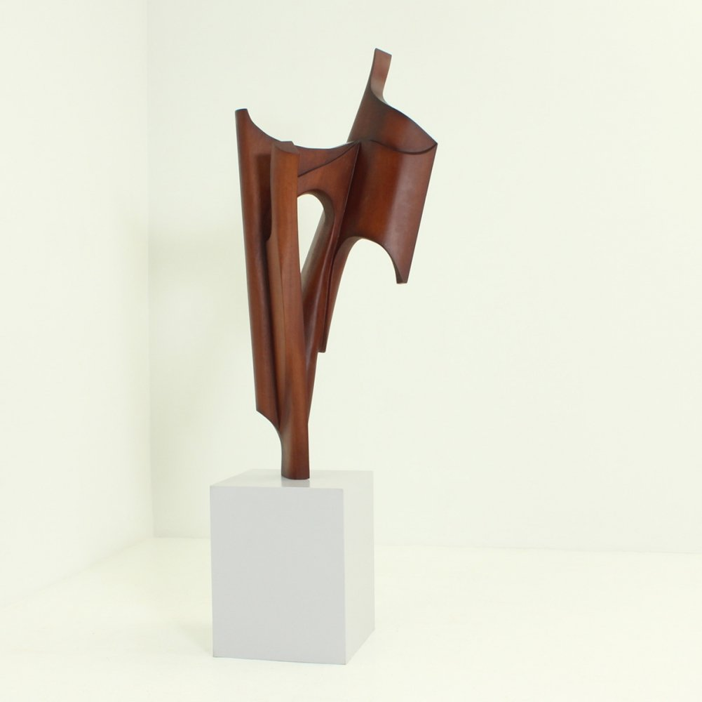 Large Wood Sculpture by Ricardo Morales, 1980s