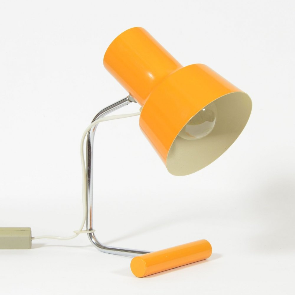 1970s Napako Table Lamp In Orange