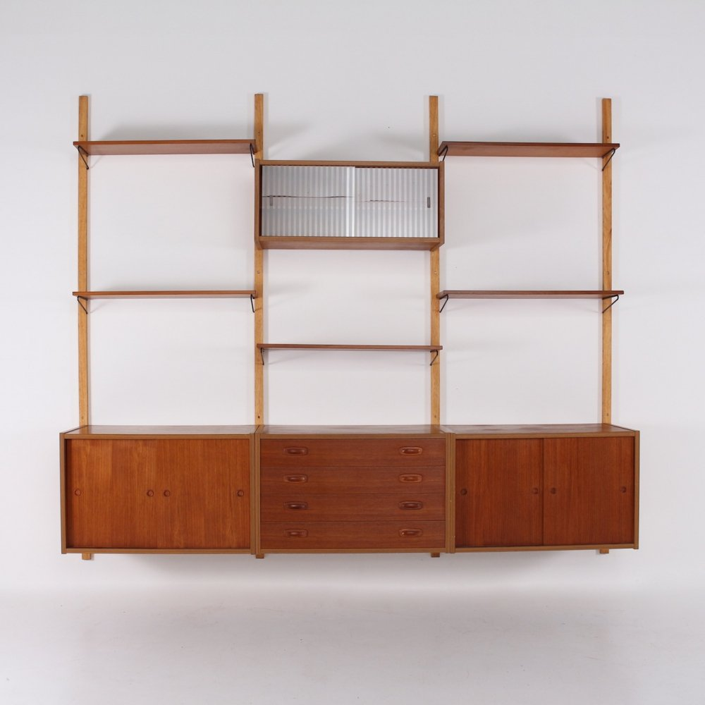 Danish teak wall unit by PS System