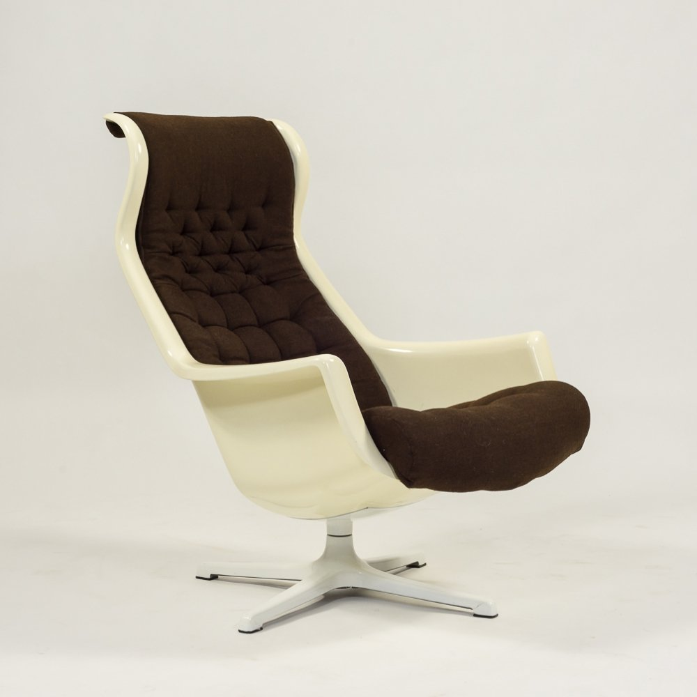 Galaxy Swivel lounge chair by Alf Svensson & Yngve Sandström for DUX