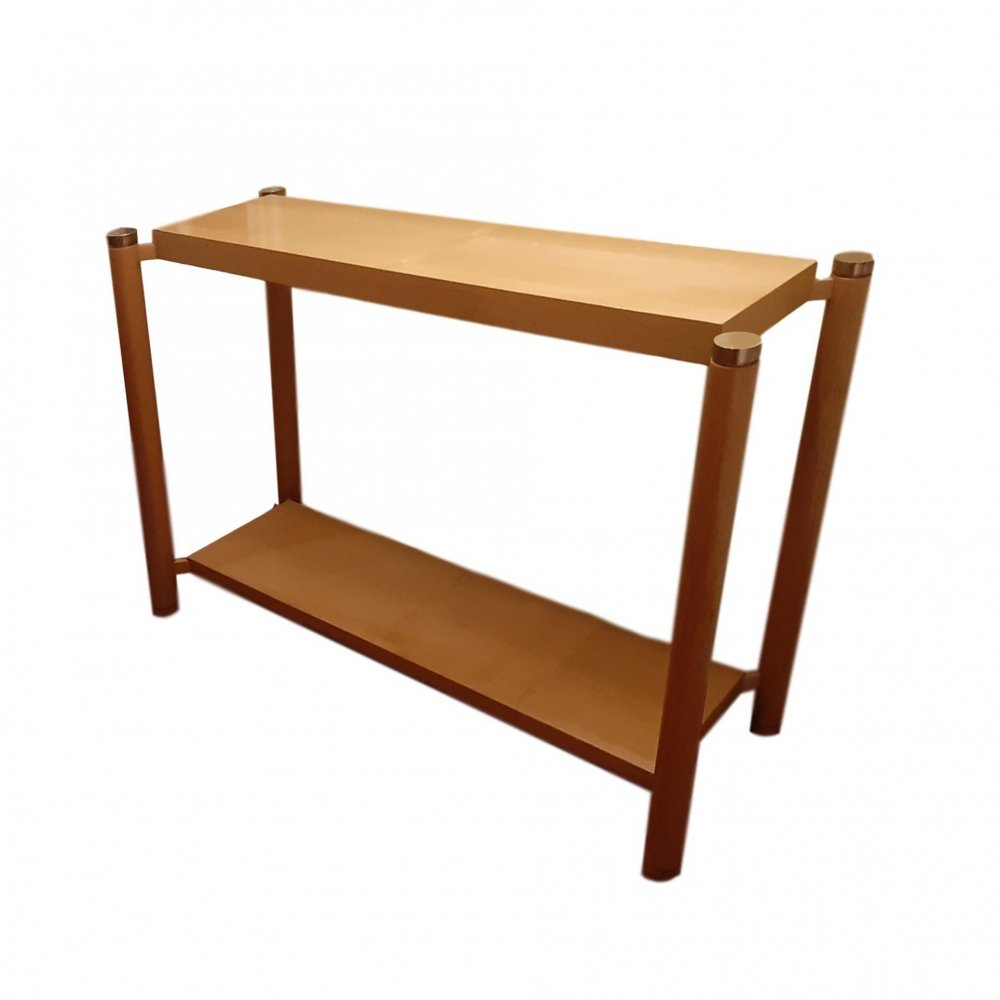 Shellac Wood Console, 1970s