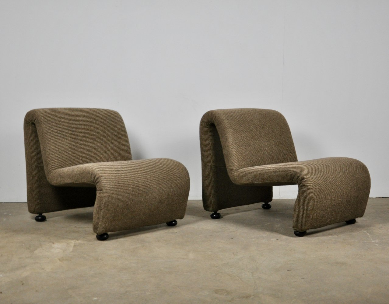 Pair of Lounge Chairs, 1970s