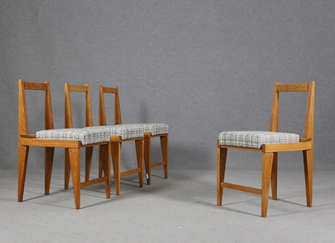 Set of four MidCentury chairs by Augusto Romano, 1950s