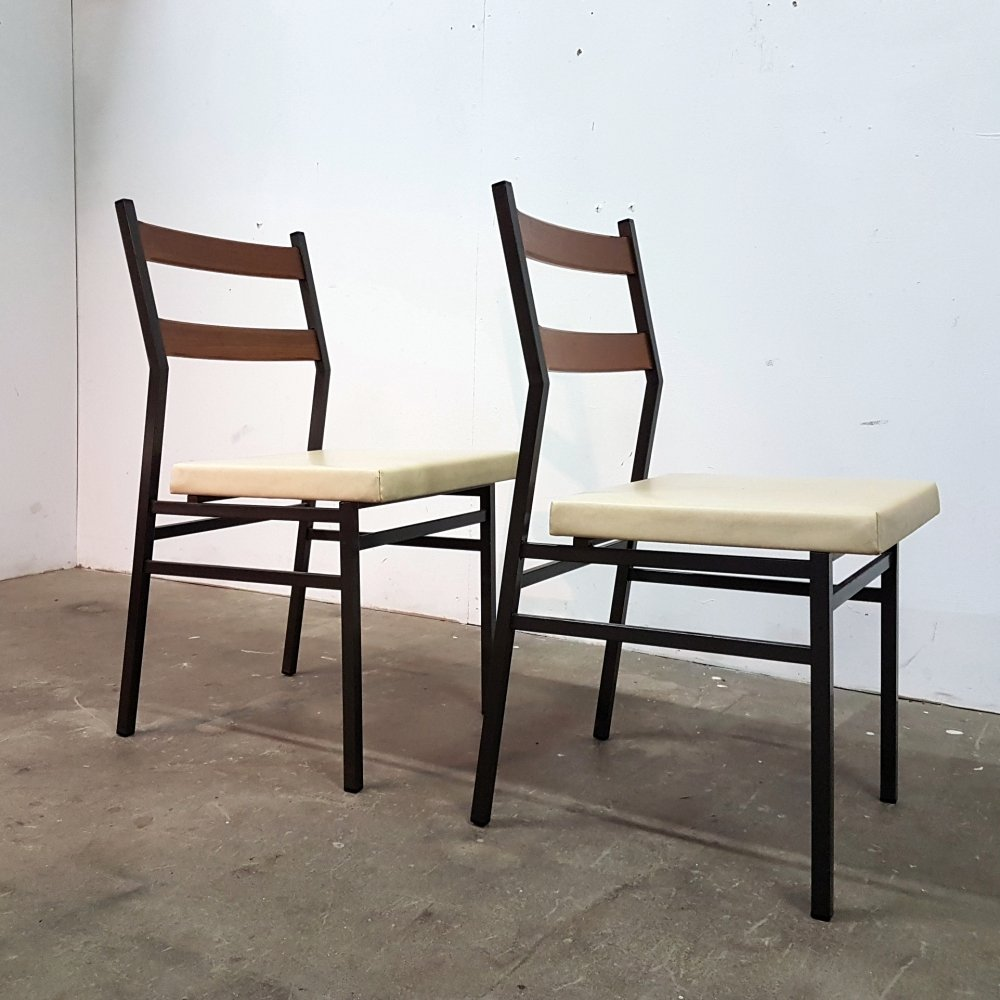 Set of 2 model Duplo chairs by Brabantia, Netherlands 1963