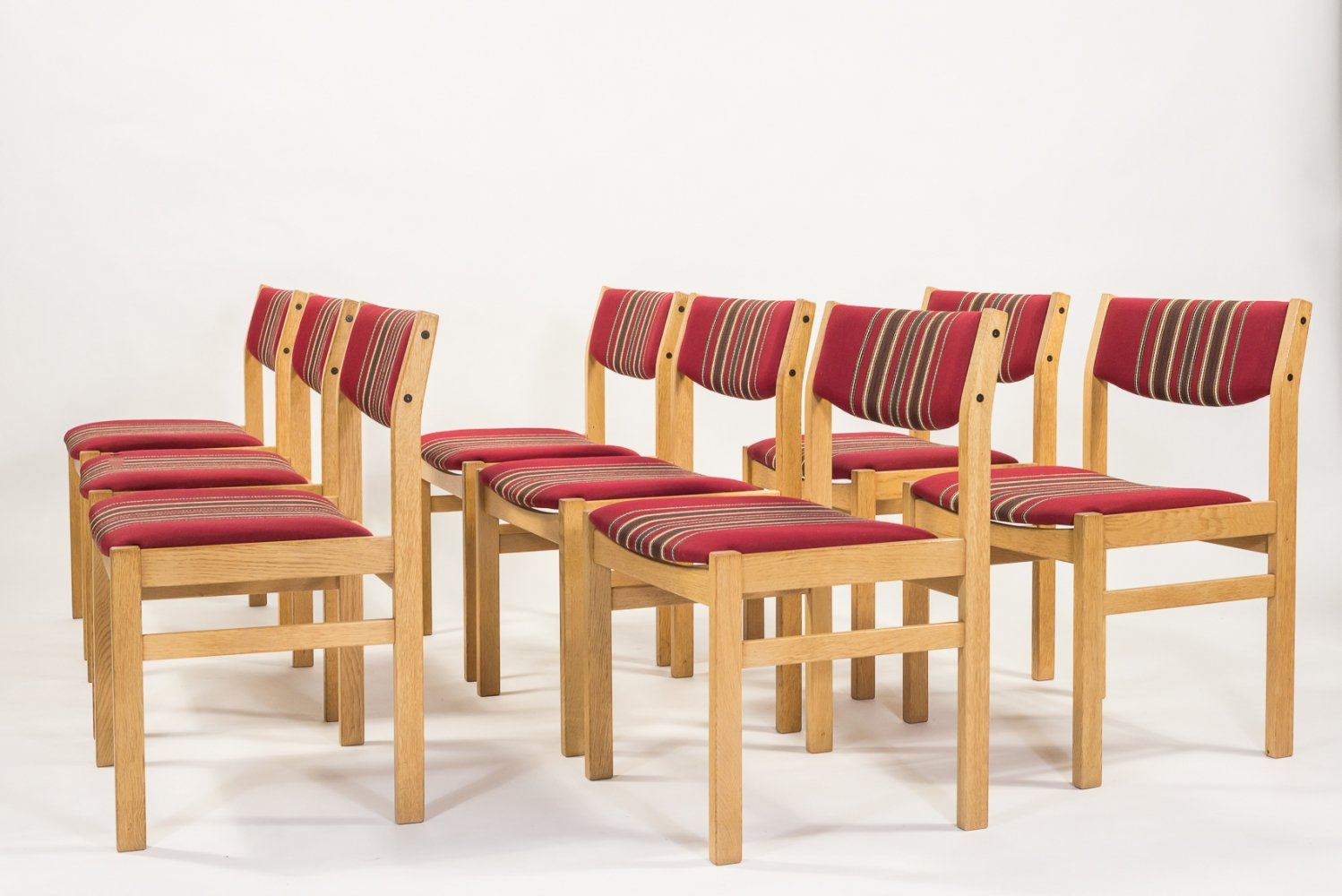 Set of 8 chairs by Borge Mogensen for FDB