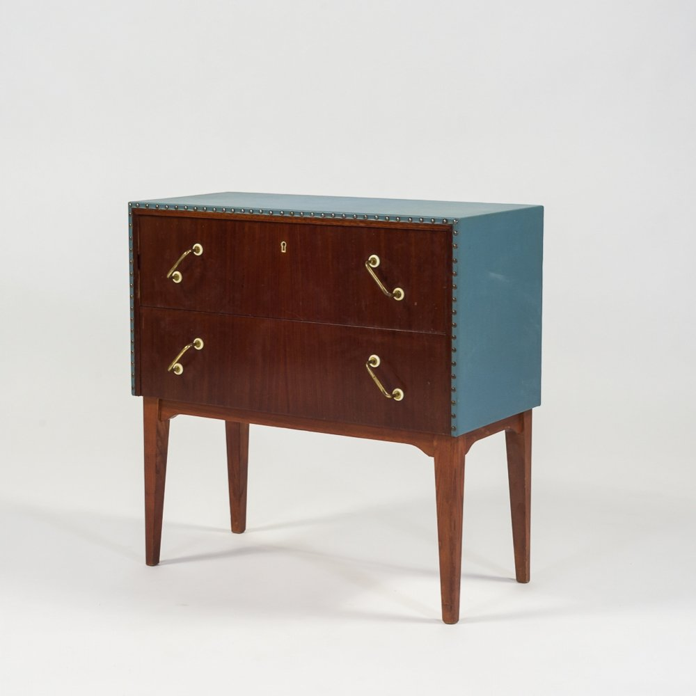 Mahogany-teak chest of drawers, 1950s