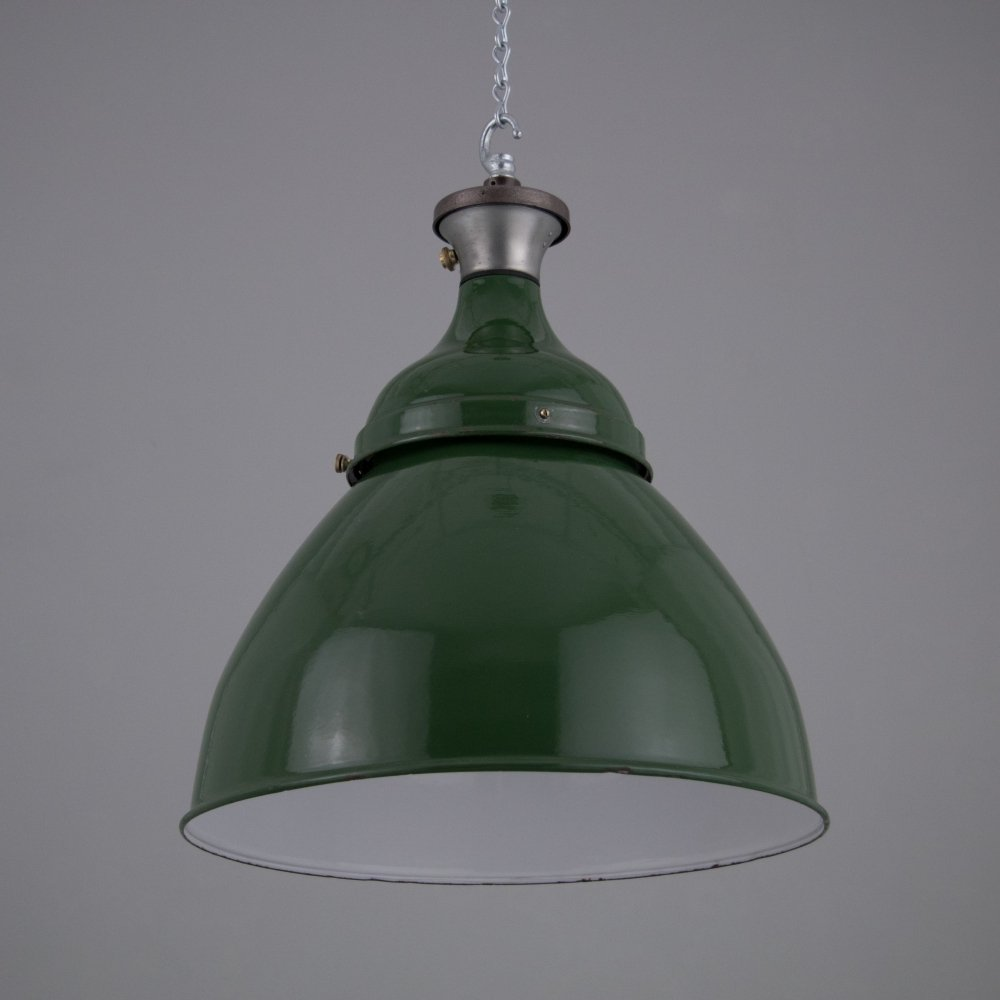 XL Lobnitz Dock pendant lights in Green, 1950s